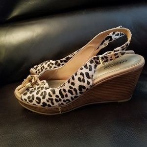 Sperry Leopard Wedge